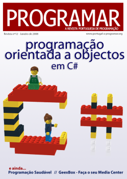 Revista PROGRAMAR: 12&#170; Edi&#231;&#227;o - Janeiro 2008